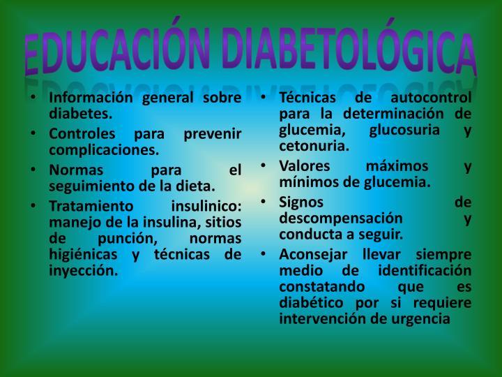 EDUCACIÓN DIABETOLÓGICA