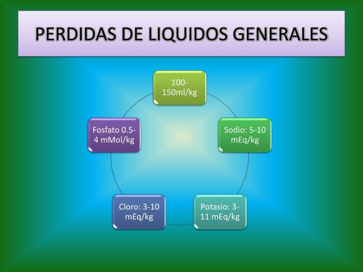 PERDIDAS DE LIQUIDOS GENERALES