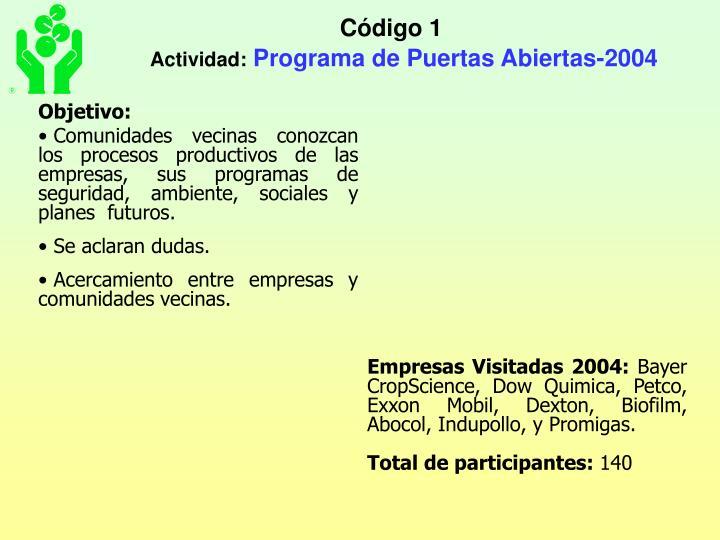 Código 1