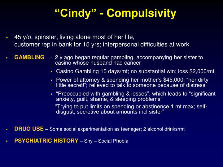 """Cindy"" - Compulsivity"