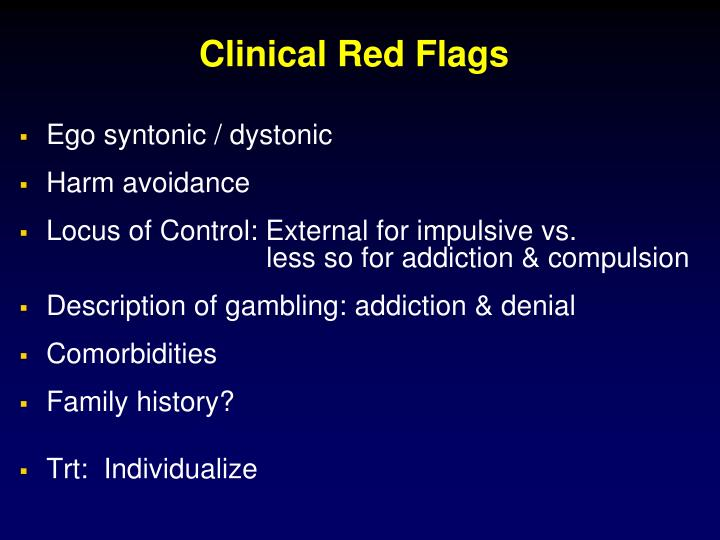 Clinical Red Flags