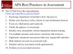 apa best practices in assessment