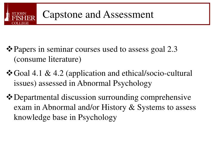 Capstone and Assessment