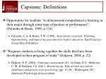 capstone definitions