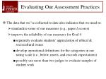 evaluating our assessment practices
