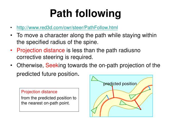 Path following