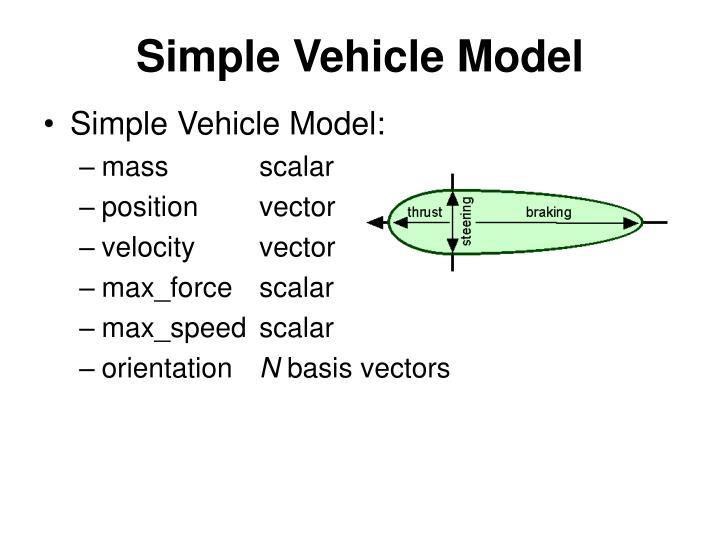 Simple Vehicle Model