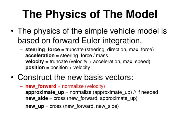 The Physics of The Model