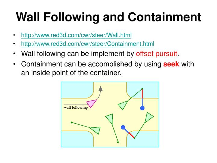 Wall Following and Containment