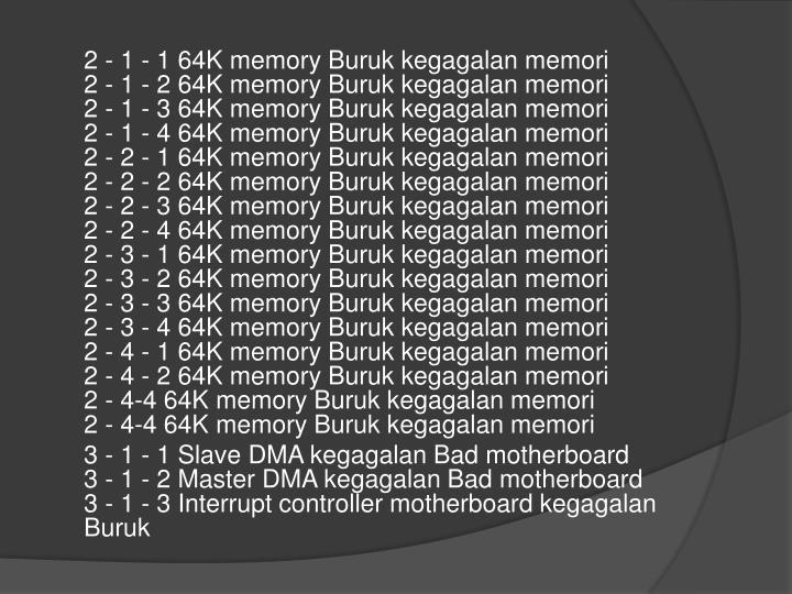 2 - 1 - 1 64K memory