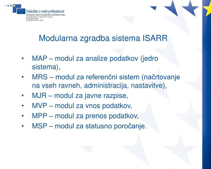 Modularna zgradba sistema ISARR