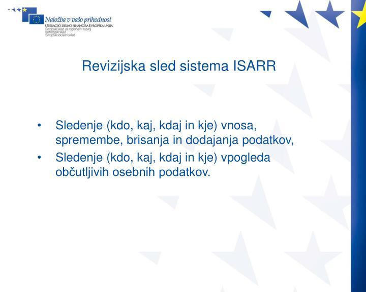 Revizijska sled sistema ISARR