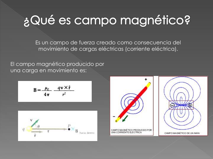 ¿Qué es campo magnético?