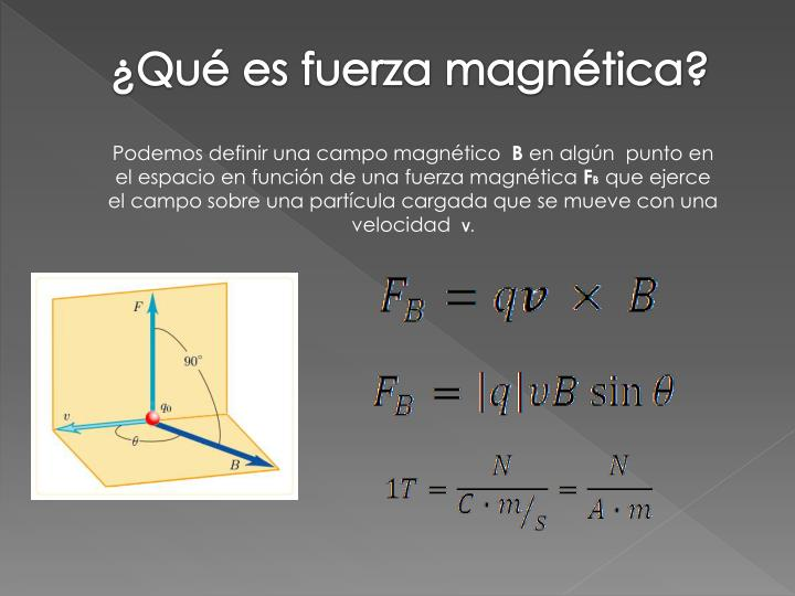 ¿Qué es fuerza magnética?