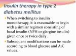 insulin therapy in type 2 diabetes mellitus1
