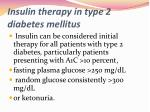insulin therapy in type 2 diabetes mellitus2