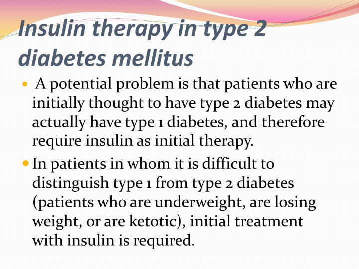 Insulin therapy in type 2 diabetes mellitus