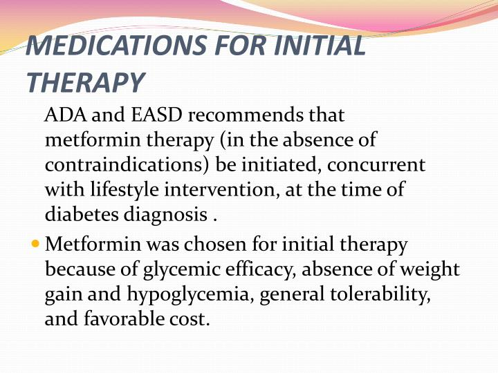 MEDICATIONS FOR INITIAL THERAPY
