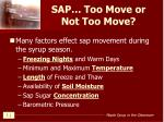 sap too move or not too move