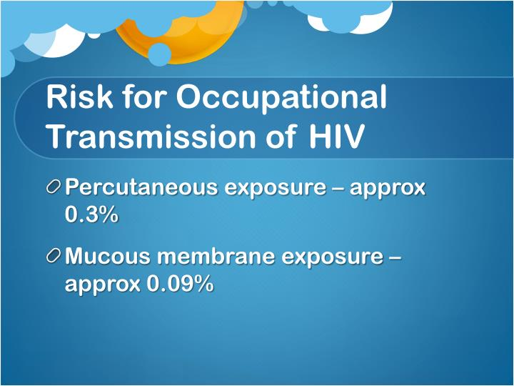 Risk for Occupational Transmission of HIV