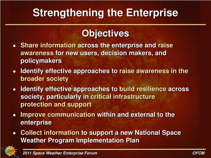 Strengthening the Enterprise