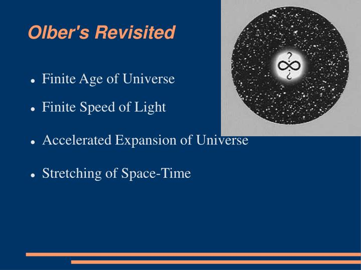 presentation on the expansion of the universe A still from an animation that shows the expansion of the universe in the standard  'lambda cold dark matter' cosmology, which includes dark.