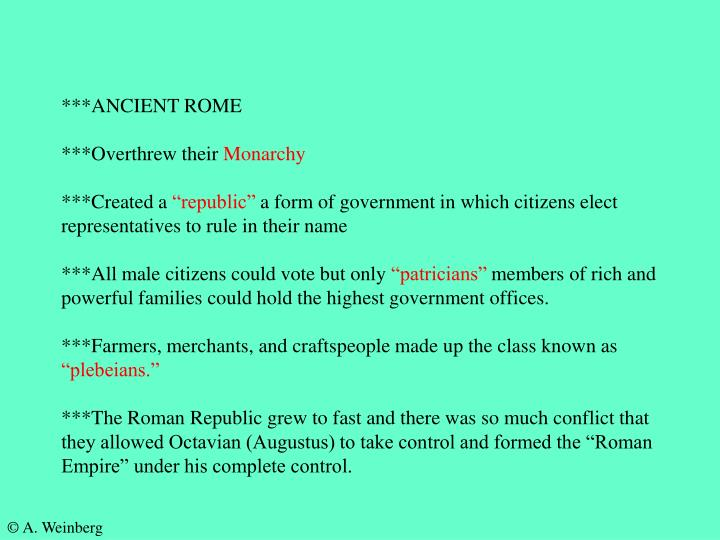 ***ANCIENT ROME