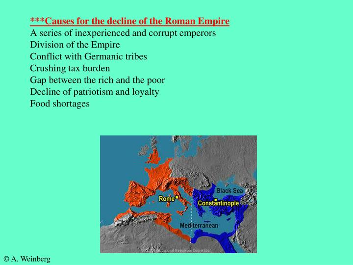 ***Causes for the decline of the Roman Empire