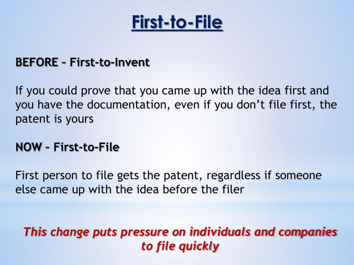 First-to-File