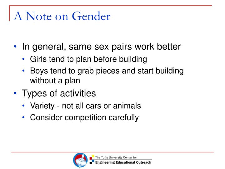 A Note on Gender