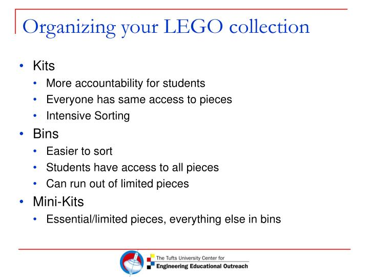 Organizing your lego collection