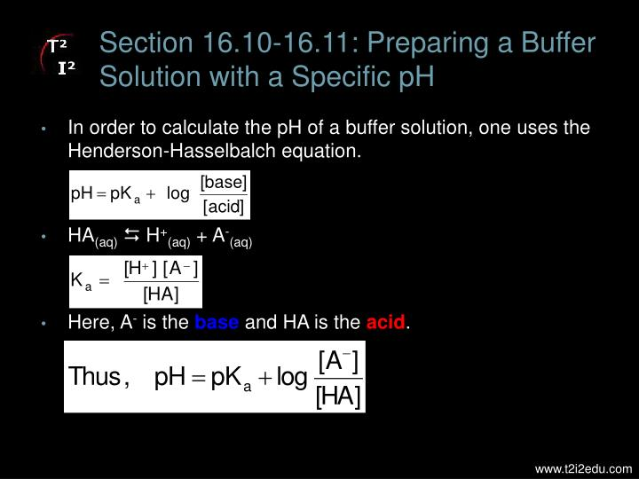 Section 16.10-16.11: Preparing a Buffer Solution with a Specific pH