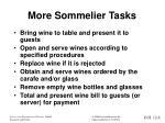 more sommelier tasks