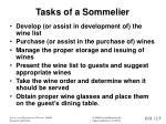 tasks of a sommelier
