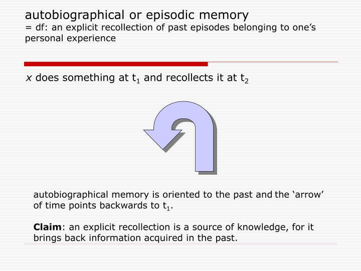 autobiographical or episodic memory