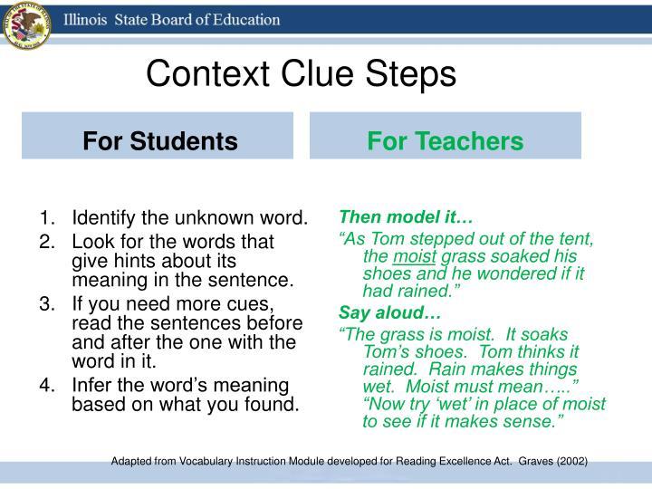 Context Clue Steps