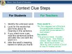 context clue steps