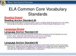 ela common core vocabulary standards