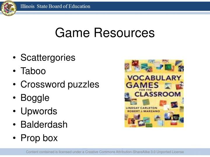 Game Resources
