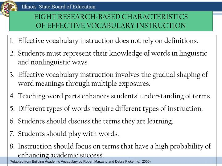 EIGHT RESEARCH-BASED CHARACTERISTICS