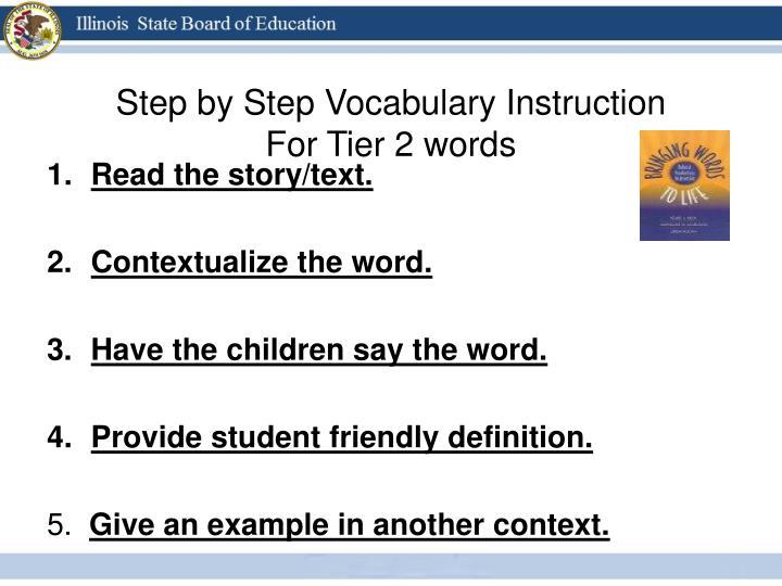 Step by Step Vocabulary Instruction