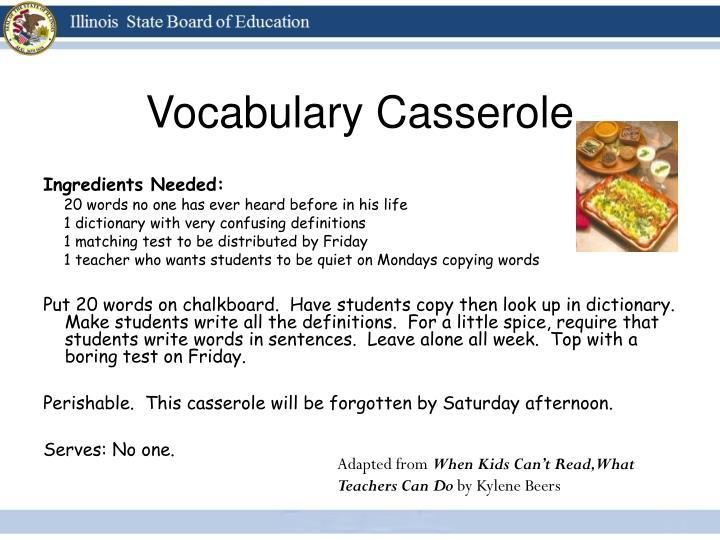 Vocabulary Casserole