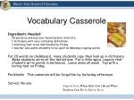 vocabulary casserole