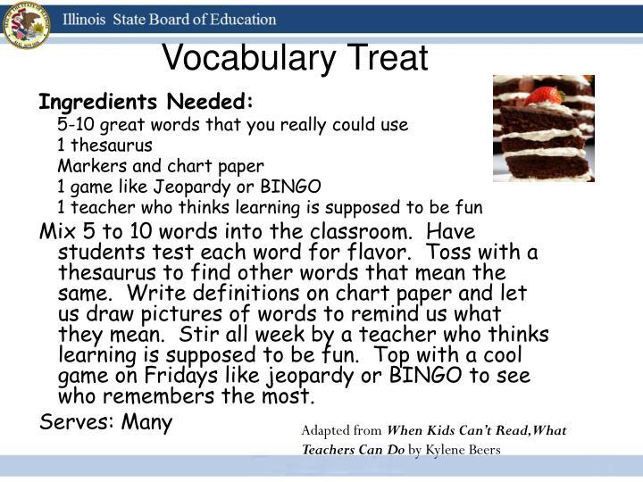Vocabulary Treat