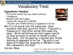 vocabulary treat