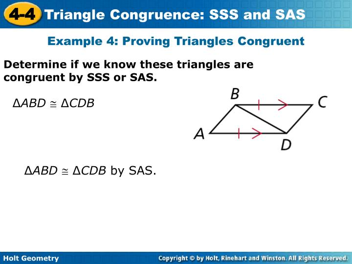 Example 4: Proving Triangles Congruent