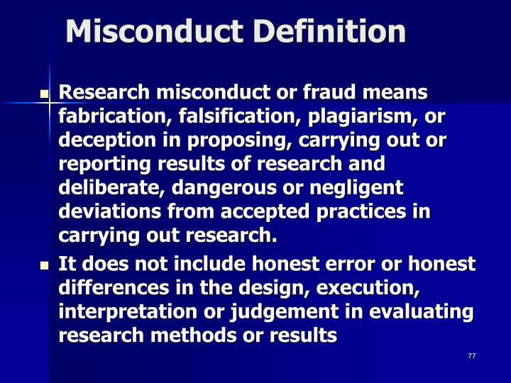 Misconduct Definition