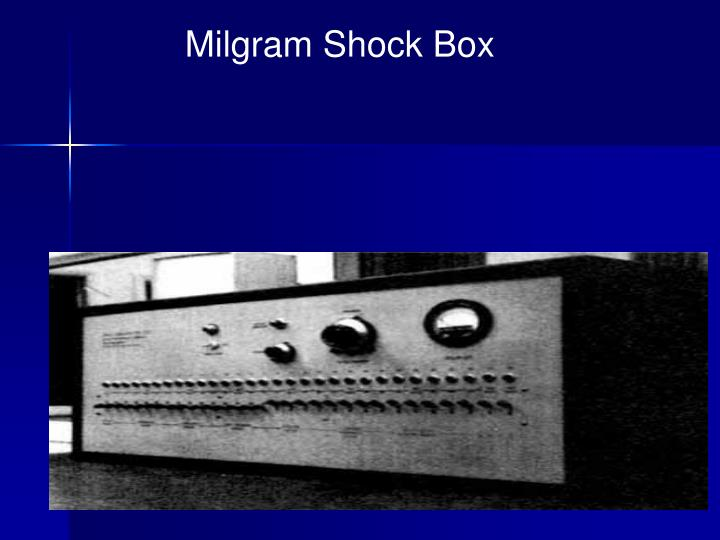 Milgram Shock Box