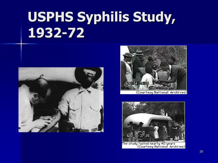 USPHS Syphilis Study, 1932-72