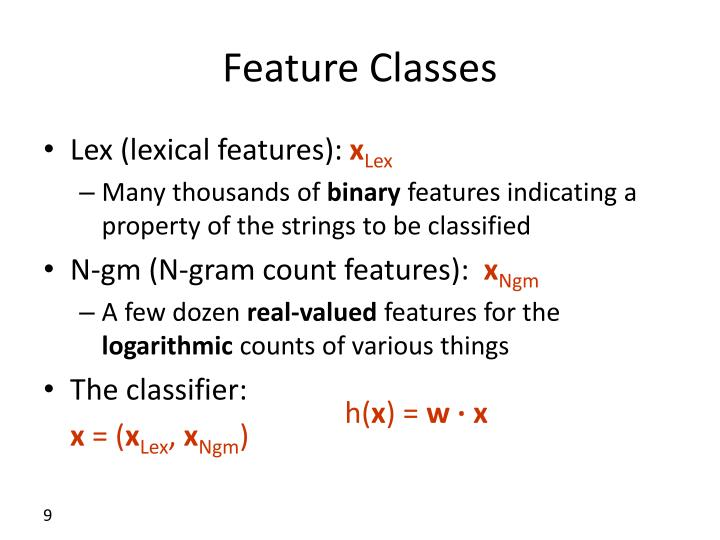 Feature Classes